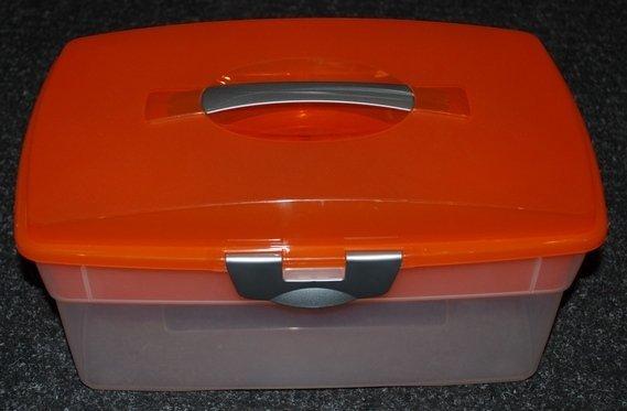 Kunststoffbox mit Einsatz - größer