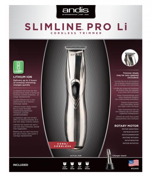 Andis Slimline Pro Li T-Klinge Silber 2