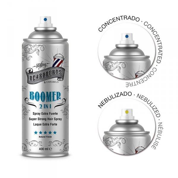 Beardburys Boomer 2in1 Fixierhaarspray 400 ml. 1