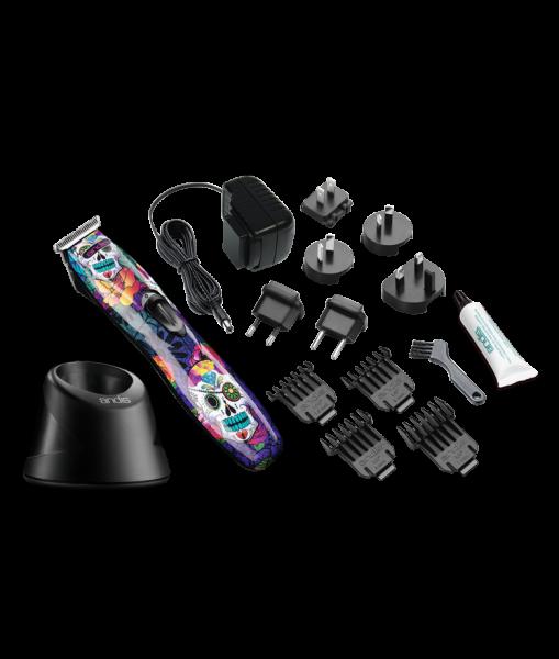 Andis Slimline Pro Li T-Klinge - Schädeldesign 3