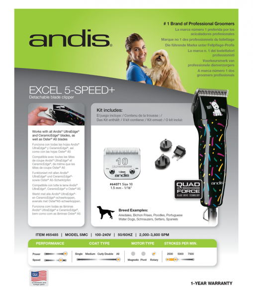 Andis Excel 5 - Speed + 4