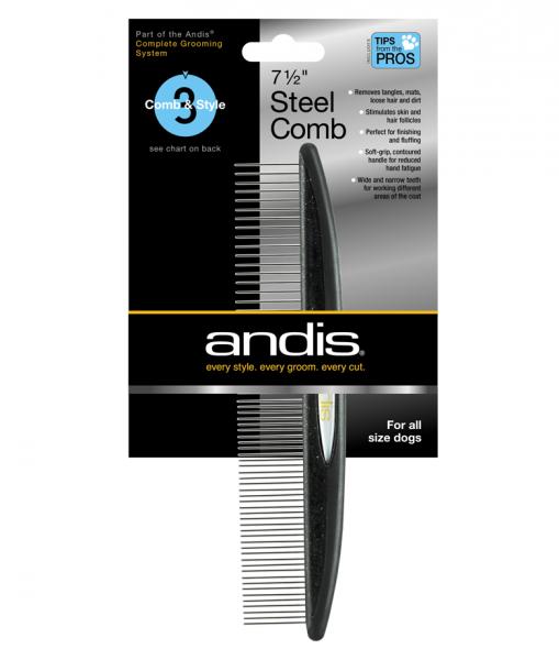 Andis Metallkamm für Fell - einseitig - 18 cm 1
