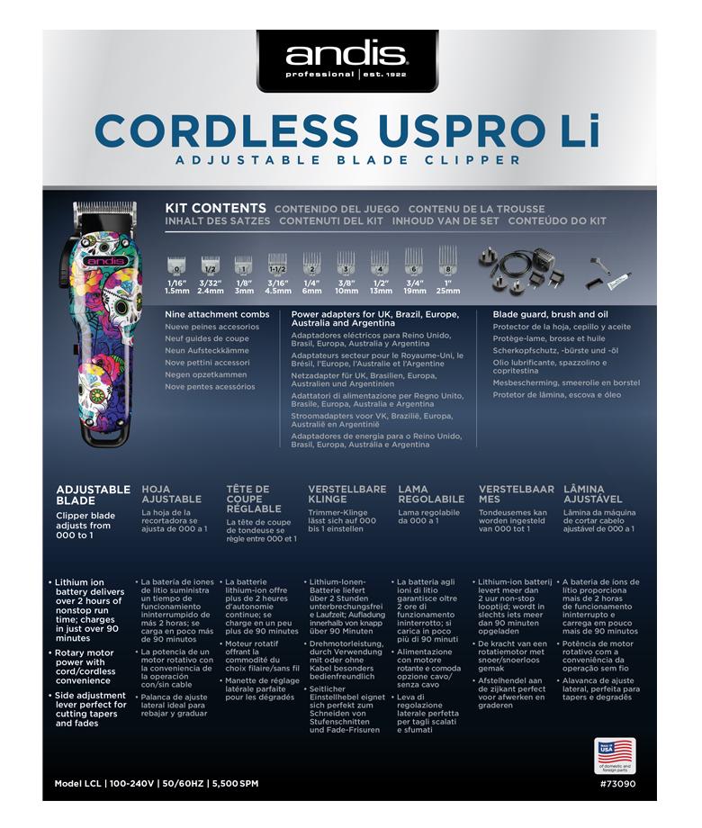 Andis Cordless USPro 73090 Schermaschine 4