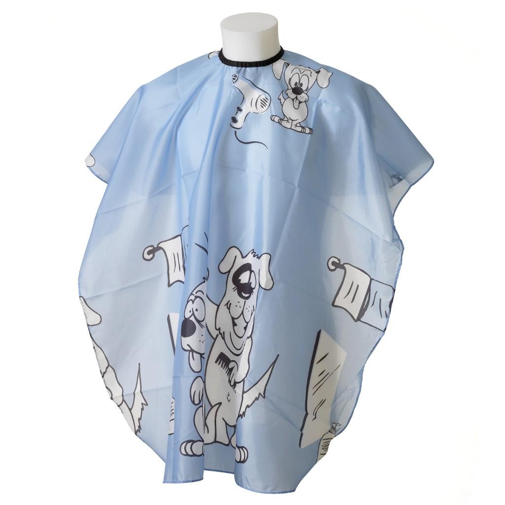 Kinderfriseur Regenmantel Doggy Blue